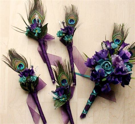 Wedding Flowers Peacock Feathers Bridal Bouquet