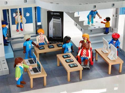 playmobil apple store at thinkgeek types