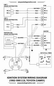 Part 1 Ignition System Wiring Diagram 1992 1995 2 2l
