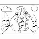 Hound Basset Sad Coloring Printable Pages Dogs Freeprintablecoloringpages Clip Morosely Dog Heart sketch template