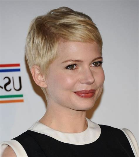popular pixie haircuts  fat face