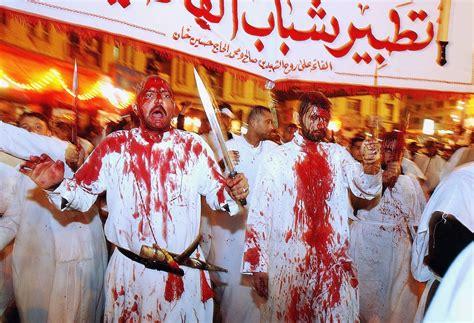 ashura festival  flagellation shows  extremes