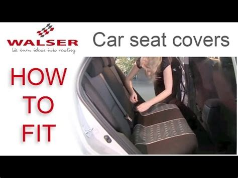 fit walser car seat covers youtube