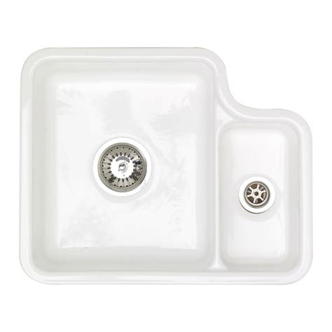 ceramic undermount kitchen sinks 1 5 astracast lincoln 1 5 bowl undermount ceramic kitchen sink 8119