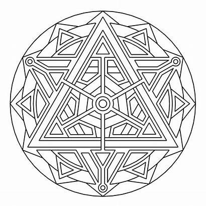 Coloring Pages Mockingjay Geometrycoloringpages Mandala Mandalas Para