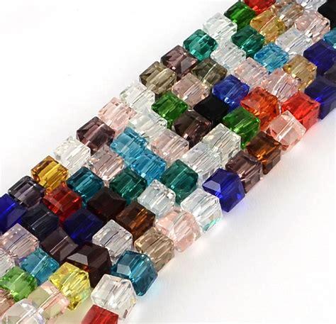 cristallo ceco perle preziose mix set mm cubo perline
