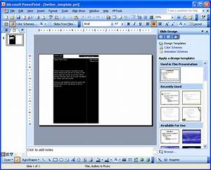 Create Twitter Backgrounds Using PowerPoint 2003 ...