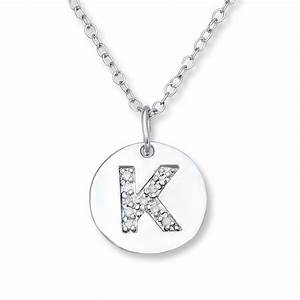 kay letter quotkquot necklace 1 20 ct tw diamonds sterling silver With letter k necklace silver
