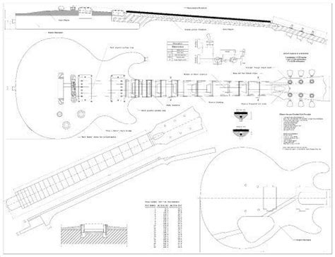 Full Scale Plans For The Gibson Les Paul Double Cutaway