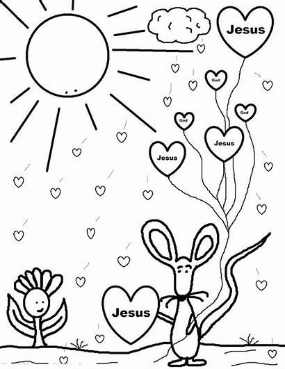 Coloring Pages Christian Preschool Valentine Sheet Jesus