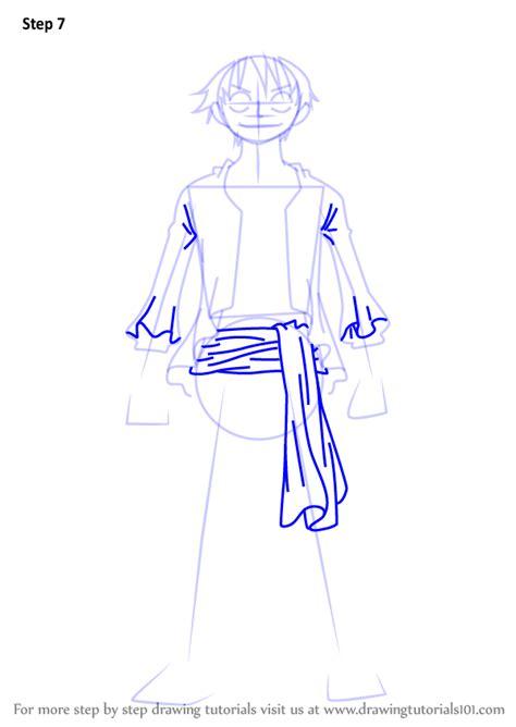 learn   draw monkey  luffy full body   piece