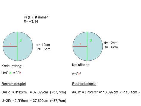 mathehilfede formeln kreisberechnung kreisumfang