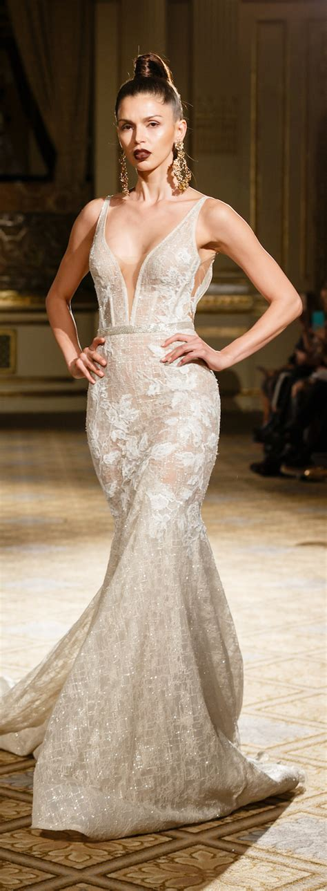 noya dress berta bridal 2018 runway show the magazine