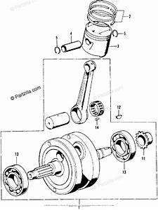 Honda Motorcycle Models With No Year Oem Parts Diagram For Crankshaft Piston