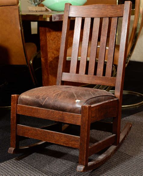 Stickley Rocking Chair Value by Antique Arts And Crafts Rocking Chair By Stickley At 1stdibs