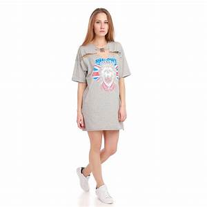 robe t shirt grise destroy imprime grunge femme pas cher With t shirt robe