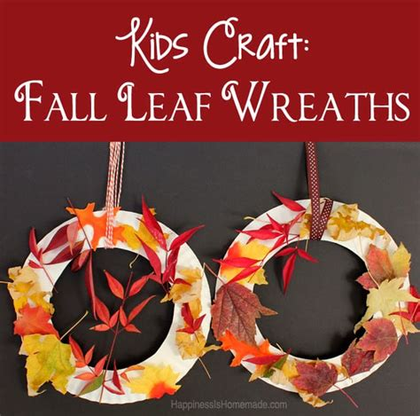 Kids Craft Fall Leaf Wreath