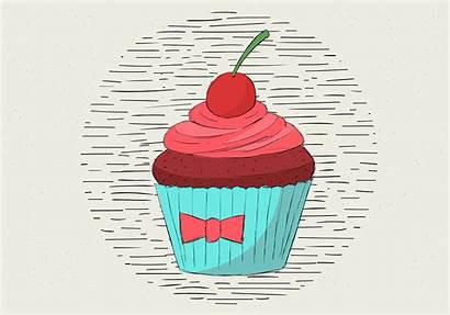 Muffin Illustration Vector Drawn Hand Clipart Edit