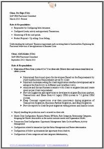 Over 10000 CV And Resume Samples With Free Download SAP CRM Resume