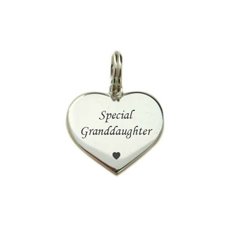 special granddaughter heart charm sterling silver