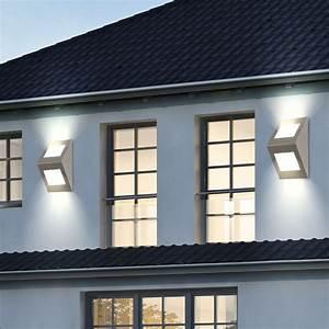 Fassadenbeleuchtung Außen Led : 19 watt led au en leuchte haus wand beleuchtung hof up down strahler eglo 91096 kaufen bei www ~ Markanthonyermac.com Haus und Dekorationen