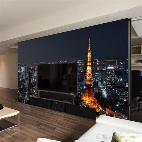 Living Room Wallpaper City by Custom 3d Wall Mural Wallpaper City View Modern
