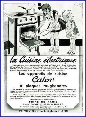 publicité cuisine publicité ancienne la cuisine electrique calor 1936 p 22