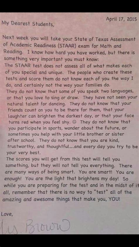 students  home  incredible note  teacher