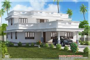 Modern Porch Design by Flat Roof Home Design With 4 Bedroom Home Appliance
