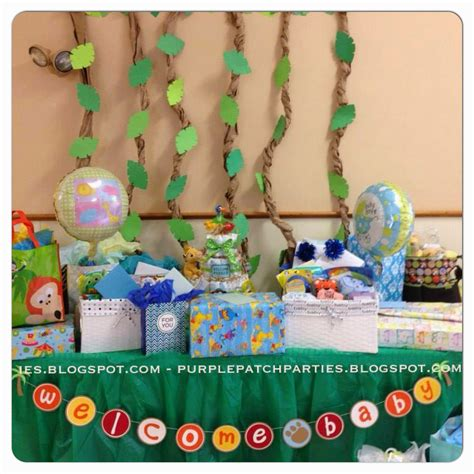 King Baby Shower Decorations - the purple patch king safari baby shower
