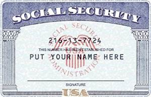 pics for gt blank social security card With make a social security card template