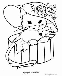 Free Printable Cat Coloring Pages 003