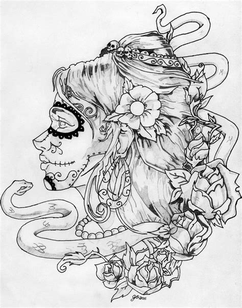 Day Of The Dead Masker Kleurplaat by 170 Best Sugar Skulls Calavera Coloring Print Pages