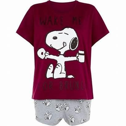 Polyvore Pajamas Purple Snoopy Pjs Sleepwear Clothes