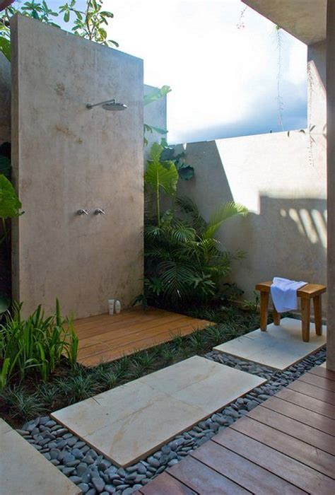 Building An Outdoor Bathroom Outdoor Shower Contemporary Landscaping Exterior E