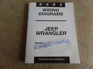 2004 Jeep Wrangler Wiring Diagrams Service Manual Oem