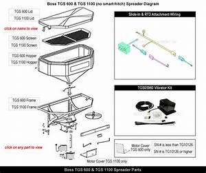 Boss Tgs600 Tgs1100 Salt Spreader Parts  U0026 Parts Exploded View Diagram