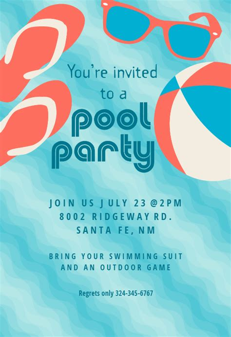 pool party stuff pool party invitation template