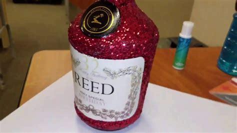 diy custom glitter hennessy bottle  label youtube