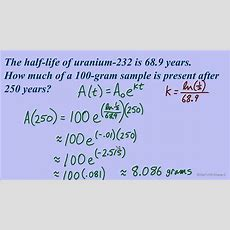 Exponential Equations Halflife Applications Youtube