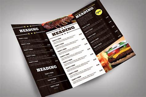 restaurant menu design templates  ms word psd