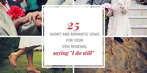 25 Short And Romantic Vows For Your Wedding Vow Renewal