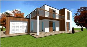 Maison en kit darchitecte toit plat 9jpg for Ordinary photo maison toit plat 9 en pierre moderne toit plat tendance