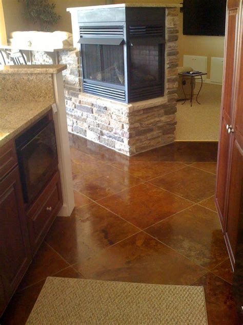 stained concrete floor kitchen 17 best images about floors on stains oak 5694