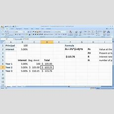 Finance Basics 2  Compound Interest In Excel Youtube