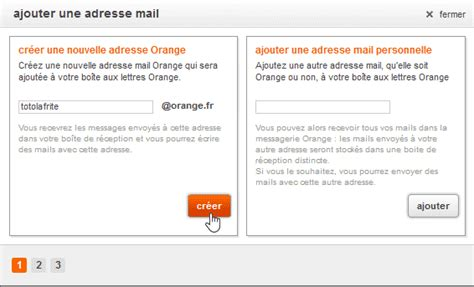 créer un alias de votre adresse e mail orange