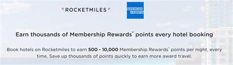 Rocketmiles American Express Promotion Earn