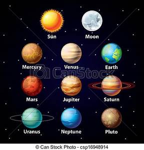 The 9 Planets Clipart - Clipart Suggest