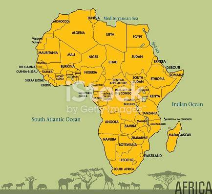 kaart van afrika met alle landen stockvectorkunst en meer beelden van afrika  istock