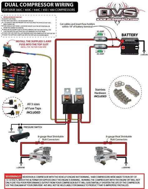 Dual Compressor Wiring Kit Avs Complete Air Ride